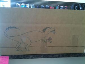 Customer dinosaur